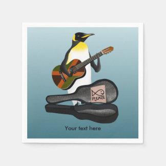 Lustiger Pinguin Busking Papierserviette