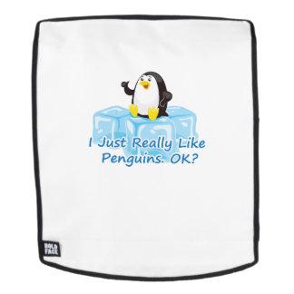 Lustiger Pinguin für Rucksack