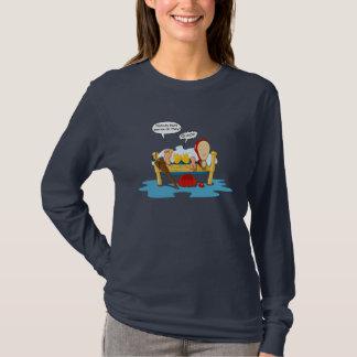 Lustiger Piraten-Clown und Enten-Cartoon T-Shirt