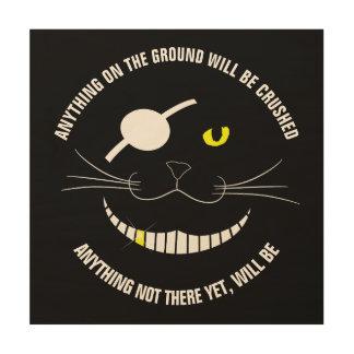 Lustiger Piraten-lächelnde Katze mit einem Holzwanddeko