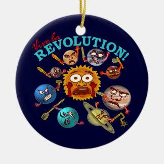 Lustiger Planeten-Revolutions-Solarsystems-Cartoon Keramik Ornament