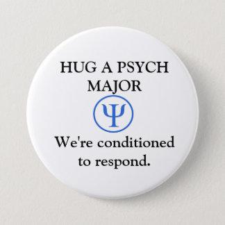 Lustiger Psych bedeutender Knopf Runder Button 7,6 Cm
