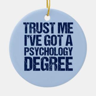 Lustiger Psychologie-Abschluss Keramik Ornament