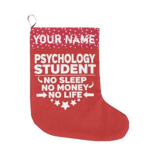 Lustiger Psychologie-Uni-Student kein Leben oder Großer Weihnachtsstrumpf