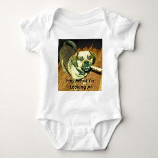 Lustiger Puggle Hund Baby Strampler