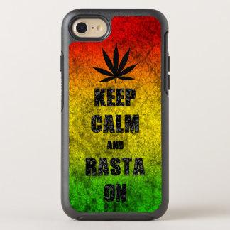 Lustiger Reggae behalten Ruhe und Rasta auf coolem OtterBox Symmetry iPhone 7 Hülle