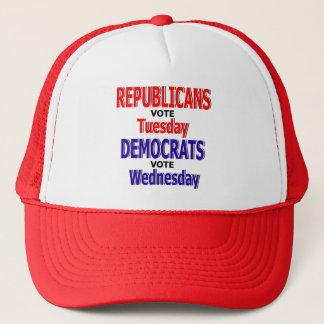 Lustiger republikanischer Abstimmungs-Dienstag-Hut Truckerkappe