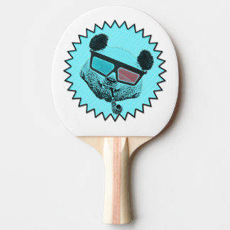Lustiger Retro Panda Tischtennis Schläger
