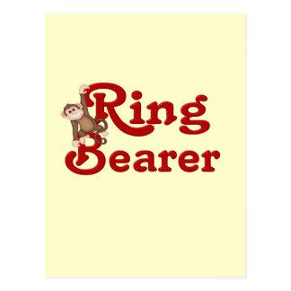 Lustiger Ring-Träger Postkarte