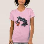 Lustiger Roboter- und Katzen-T - Shirtentwurf Hemden