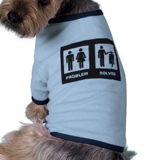 Lustiger Roller Ringer Hunde-Shirt