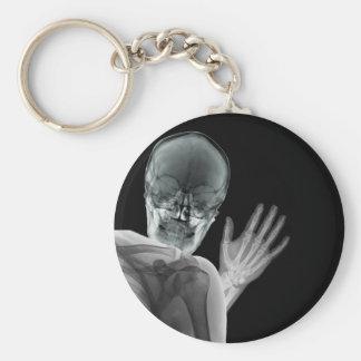 Lustiger Röntgenstrahl Photobomb Schlüsselanhänger