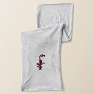 Lustiger rosa Flamingo in den Gesamten Schal