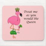 Lustiger rosa Flamingo Mousepad