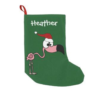 Lustiger rosa Flamingo-WeihnachtsStrumpf Kleiner Weihnachtsstrumpf