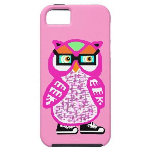 Lustiger rosa Hipster-Eulen-Rosa iPhone 5 Fall iPhone 5 Schutzhülle