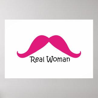 Lustiger rosa und schwarzer wirkliche Frauen-Schnu Poster