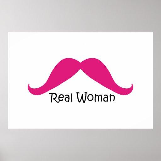 Lustiger rosa und schwarzer wirkliche Frauen-Schnu Posterdrucke