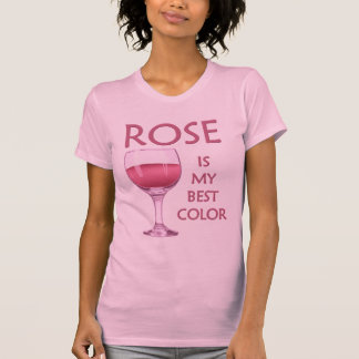 Lustiger Rosen-Wein-Party-T - Shirt