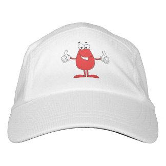 Lustiger roter Cartoon mit zwei Daumen oben Headsweats Kappe
