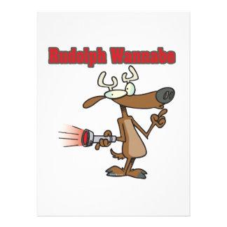 lustiger Rudolph-Ren-Möchtegern Individuelle Einladung