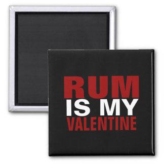 Lustiger Rum ist mein AntiValentinstag des Quadratischer Magnet