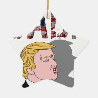 Lustiger sarkastischer Antipräsident Donald Trump Keramik Ornament