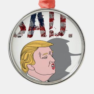 Lustiger sarkastischer Antipräsident Donald Trump Silbernes Ornament