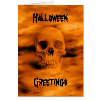 Lustiger Schädel Halloweens Karte