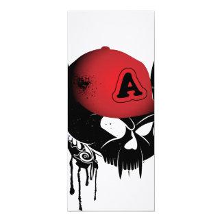 Lustiger Schädel mit rotem Hut