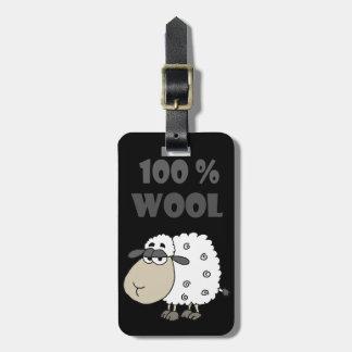 Lustiger Schaf-Cartoon ist 100 Prozent Wolle- Kofferanhänger