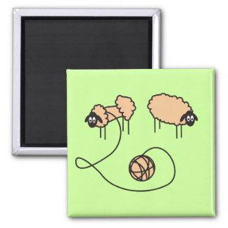 Lustiger Schaf-Magnet Quadratischer Magnet