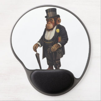 Lustiger Schimpanse - Retro Affe - monkey Gel Mousepad