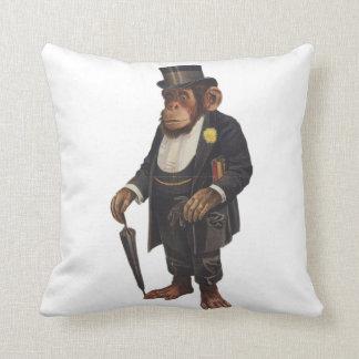 Lustiger Schimpanse - Retro Affe - monkey Kissen