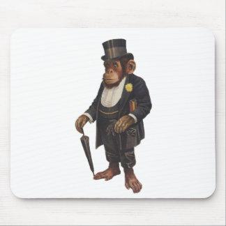 Lustiger Schimpanse - Retro Affe - monkey Mauspads