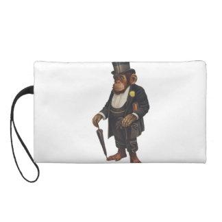 Lustiger Schimpanse - Retro Affe - monkey Wristlet Handtasche