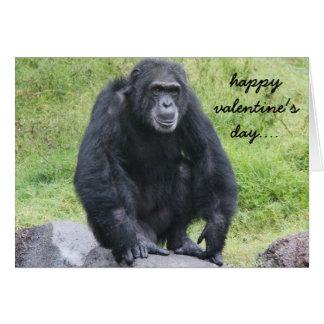 Lustiger SchimpanseValentine, wollen monkey Karte