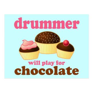 Lustiger Schlagzeug-Schlagzeuger Postkarte