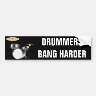 Lustiger Schlagzeuger-Schlagzeuger-Knall-härtere Autoaufkleber