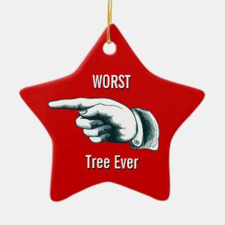 "Lustiger ""schlechtester Baum überhaupt "" Keramik Ornament"