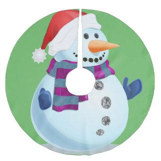Lustiger Schneemann Polyester Weihnachtsbaumdecke