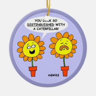 Lustiger Schnurrbart-Cartoon-kundenspezifischer Keramik Ornament