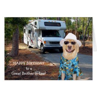 Lustiger Schwager-Geburtstag Karte