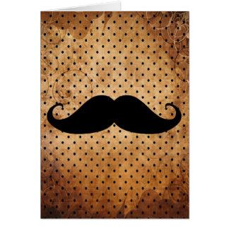 Lustiger schwarzer Schnurrbart Mitteilungskarte