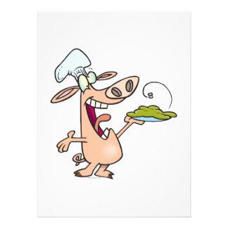 lustiger Schwein-Koch mit Schwein Einladungskarten