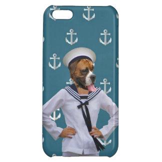 Lustiger Seemannhundecharakter iPhone 5C Schale