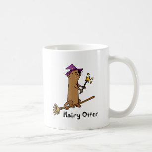 Lustiger Seeotter-Zauberer-Cartoon Kaffeetasse