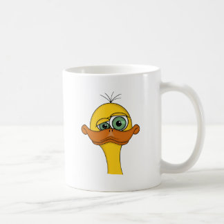 Lustiger sonderbarer Enten-Cartoon Kaffeetasse