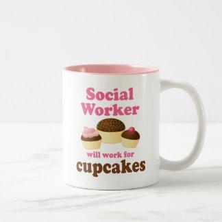 Lustiger Sozialarbeiter Zweifarbige Tasse