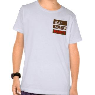 Lustiger Spaß der PARTY-Text-Klugheit essen Schlaf Shirt